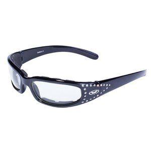 Clear Women Glasses Sunglasses Padded Rhinestones